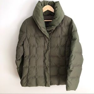 Rainforest Quilted Down Puffer Jacket Army Green